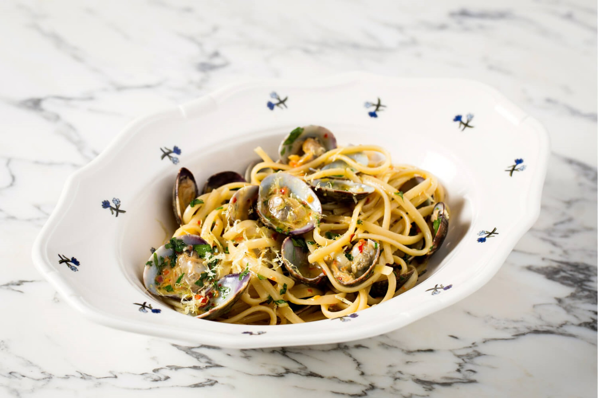 Lunch near Oxford Street in Marylebone at Harry's Bar, Seafood Linguine